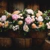 Brown Box Flowers Garden Style Coffin Spray