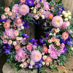 Natural Garden style wreath