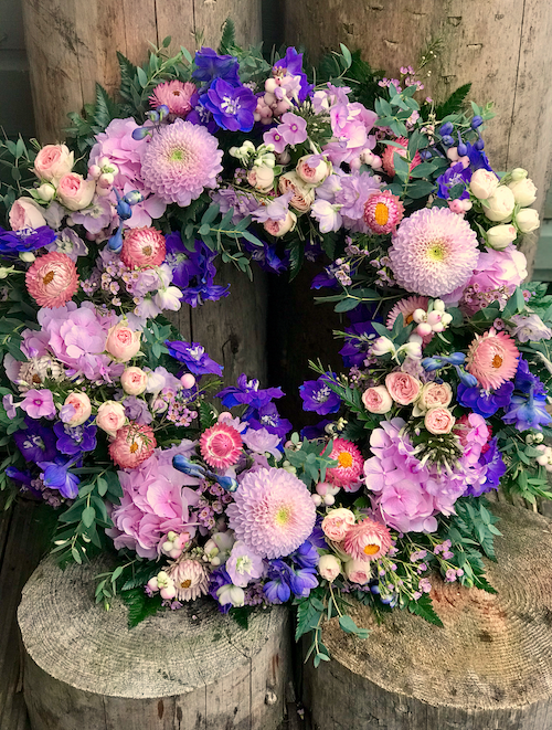 Natural Garden style wreath