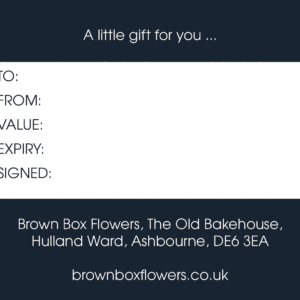 Brown Box Flowers Gift Voucher