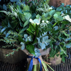 Mixed greenery bouquet