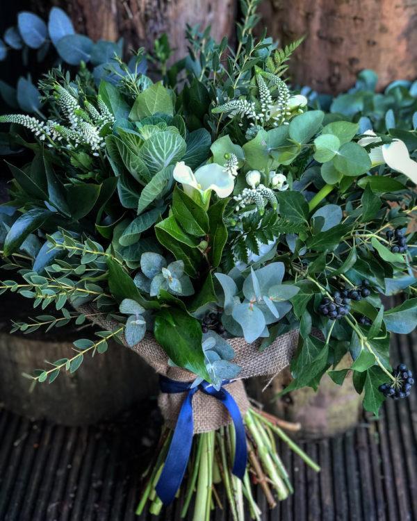 Mixed greenery bouquet